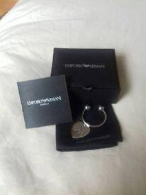 Emporio Armani Brand New Key Fob Ring. Great Christmas Gift