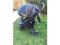 Pushchair joie very good Condition with raincover footmaff
