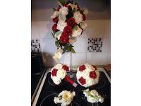 Brides and bridesmaids bouquet