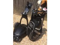 Remote control Stewart golf trolley and bag