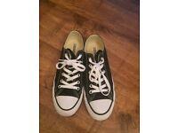 Black Converse, size 6.