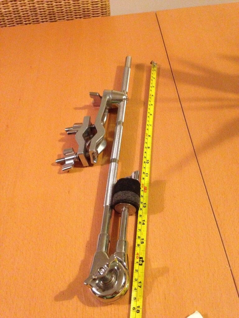 Cymbal boom complete with clamp