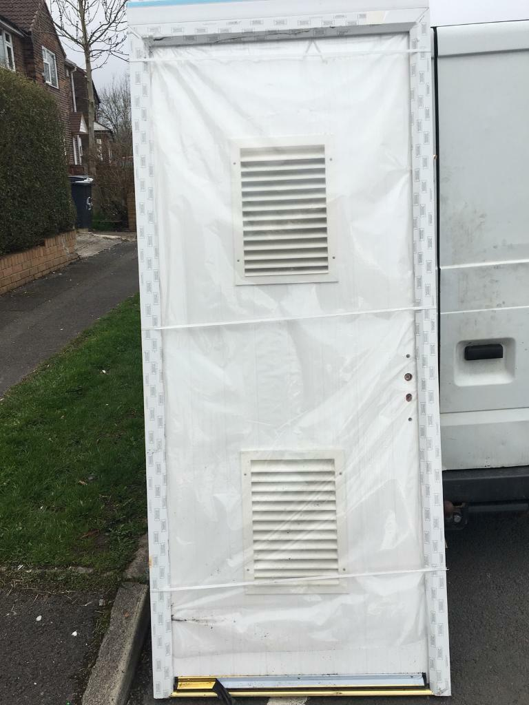 Composite Sore Shed Or Garage Door 915x2070 White In Oldham