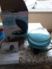 blue electric cupcake maker