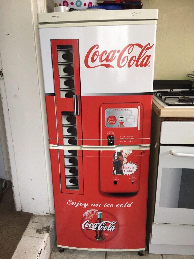 Fridge Freezer With Coca Cola Vinyl Wrap In Chesterfield