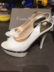 Costa blancaX peep toe sling back high heel shoes