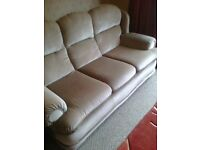 3-Seater sofa with one matching armchair