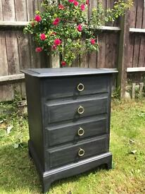 Up Cycled Vintage Stag Bedside Table/Chest of Drawers