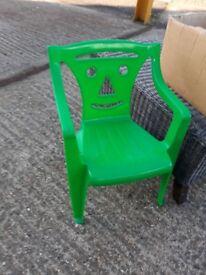 Kids plastic Chair - green.