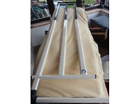 Bed Rails, extra high, full length, metal, with padded water resistant covers.