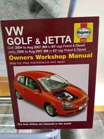 Workshop manual.