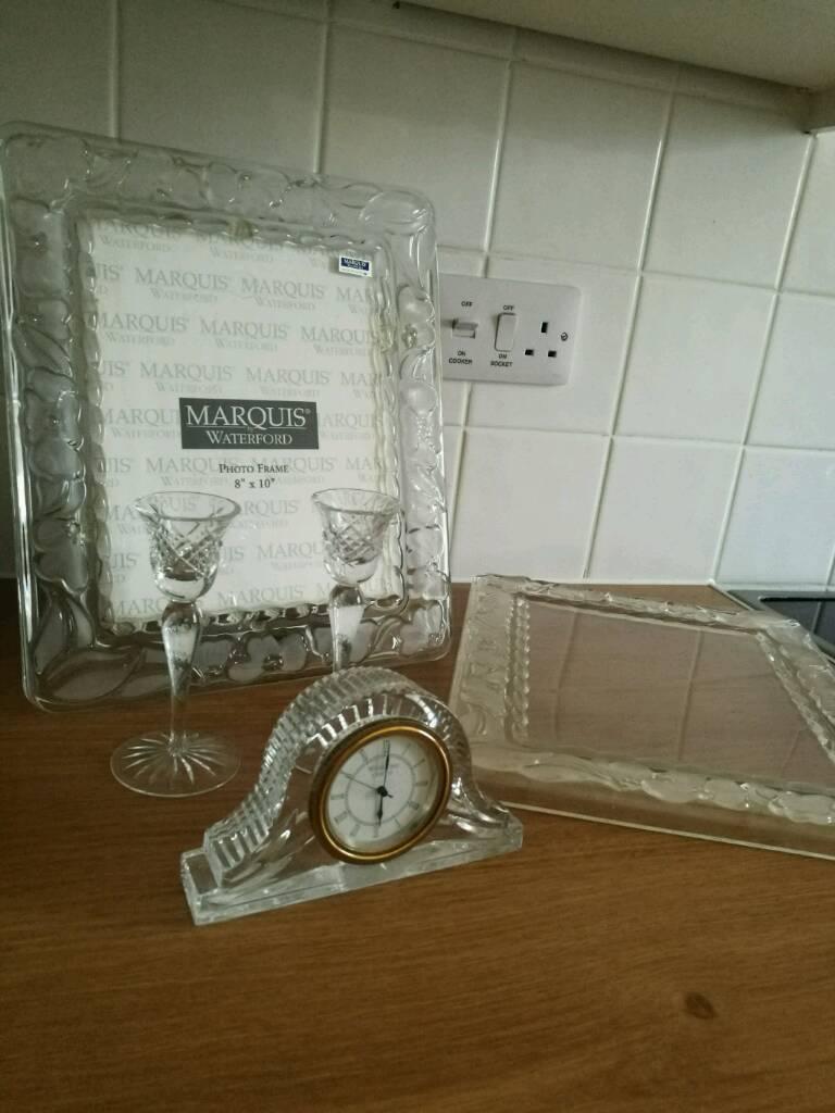 Waterford Crystal Frames Candlesticks N Clock In Spalding