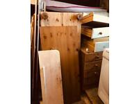 Pine (Chalk painted white) triple wardrobe