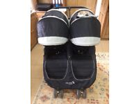 Baby Jogger city Mini tandem stroller/double buggy (black) with raincover