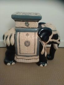 ELEPHANT STAND OR PLANTER - SIDE TABLE