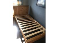 Pine single bed frame .Excellent condition £30
