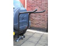 "Pendle Bike Rack - Behind the ball mounting, fitted with 6"" offset support"