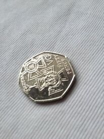 150th anniversary of the Victoria Cross, 50p, 2006, Collectible/ Investment coin. 50 pence