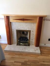 Complete Gas Insert with fire surround and Marble Hearth