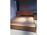 King size BED FRAME Warren Evans SOLID Hand made frame RRP £910