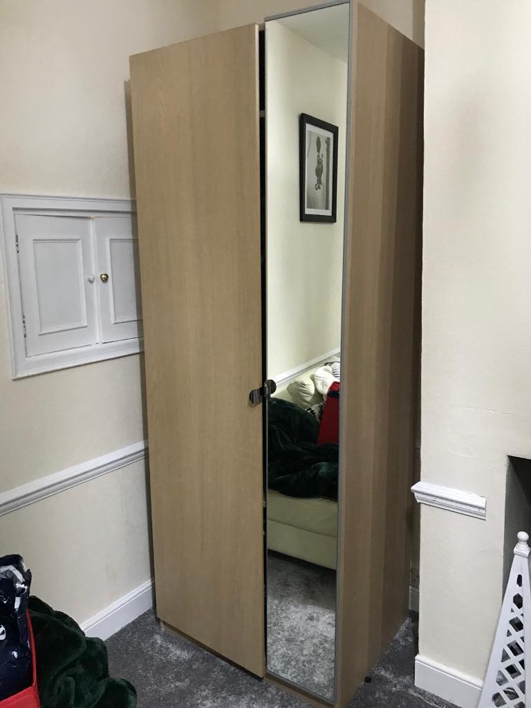 Double mirrored wardrobe