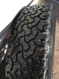 BF Goodrich at 235/85/R16 tyre