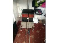 Box and specimen carp rod and reel