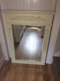 Cream shabby chic mirror