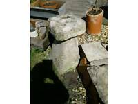 LOVELY OLD STADDLE STONE GARDEN PATIO FEATURE NICELY WEATHERED