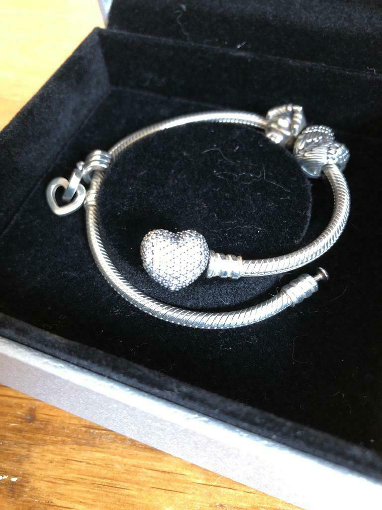 dce8d54530538 Genuine Pandora Bracelet and 3 charms | in Gloucester, Gloucestershire |  Gumtree
