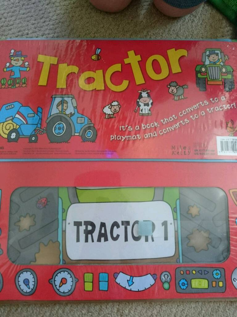 Tractor Book and Playmat