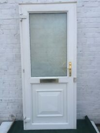 UPVC semi-glazed front door