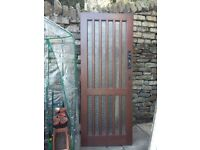 Wooden glazed front door classic look