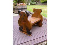 Children`s teddy bear stool