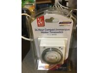 24 hour compact immersion heater Timeswitch