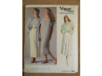 Vogue Perry Ellis 1980's Jacket, Dress, Top & Skirt Sewing Pattern 1858 Size 12 American Designer