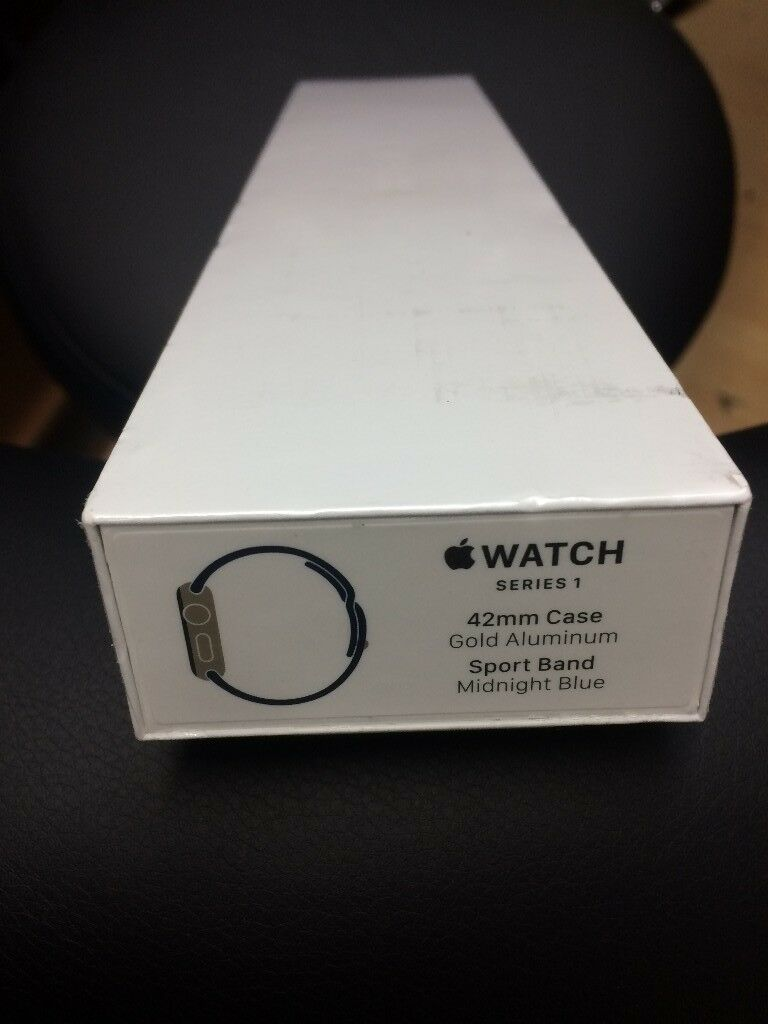 Apple Watch Series 1 42mm Case Gold Aluminum With Warranty In East 2 38mm Aluminium Midnight Blue Sport Band