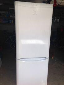 white indesit 60cm fridge freezer frost free cooler - can deliver