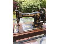 Antique Hand Crank Singer Sewing Machine