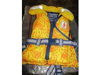 Child's life jacket, 0 - 20kg, 100 N,