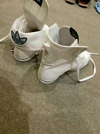Women's Adidas white trainers