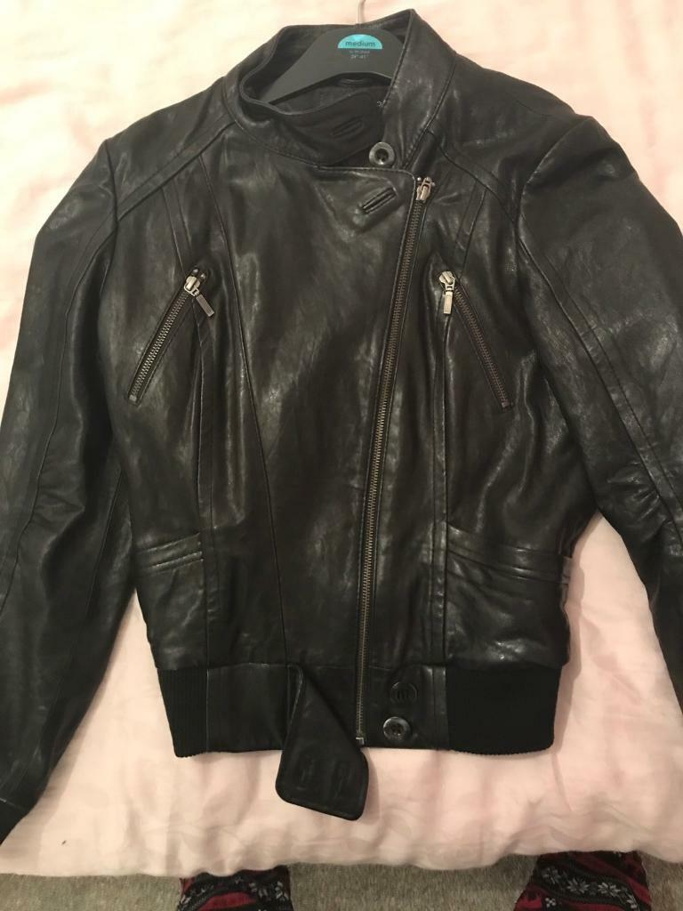 Ladies marks and Spencer's limited collection black leather jacket
