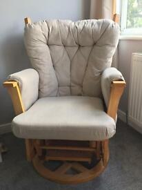 Cream nursing chair