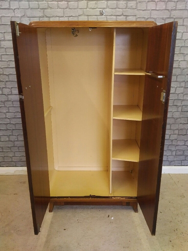 Vintage Retro 1930s Art Deco Wardrobe Art Deco Metal Wardrobe  # Deco Armoire Metallique Vintage