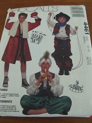 HALLOWEEN COSTUME SEWING PATTERN Sz 2-4 PIRATE COWBOY SNAKE CHARMER BOXER](Snake Charmer Halloween Costume)