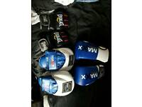 Boxing gloves, Pads and MMa gloves