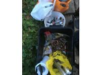 Copper piping bits plumbing job lot