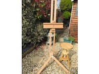 Winsor Newton artists Radial Easel and wooden stool