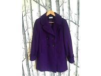 Wallis wool coat size 12