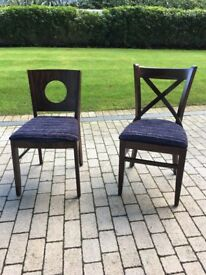 2 X brand new dinning chairs.
